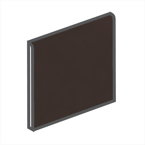 American Olean Matte 4-1/4 x 4-1/4 French Roast Surface Bullnose