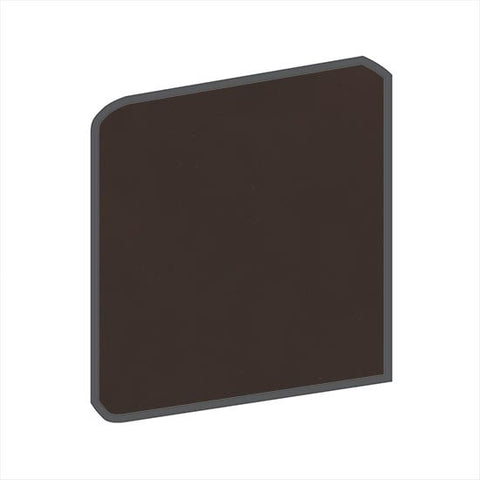 American Olean Matte 4-1/4 x 4-1/4 French Roast Surface Bullnose Outcorner