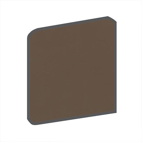 American Olean Bright 4-1/4 x 4-1/4 Nutmeg Surface Bullnose Outcorner