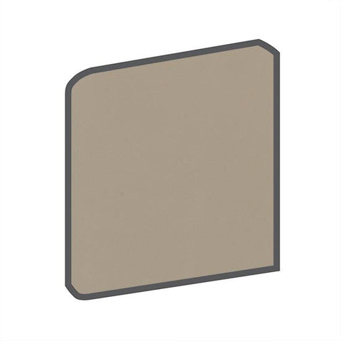 American Olean Bright 4-1/4 x 4-1/4 Mushroom Surface Bullnose Outcorner