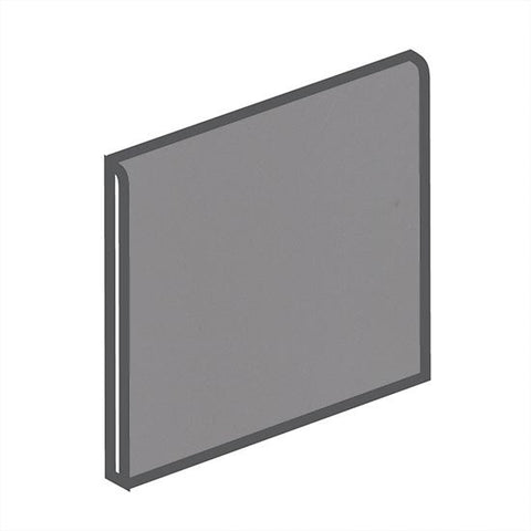 American Olean Bright 6 x 6 Storm Gray Surface Bullnose