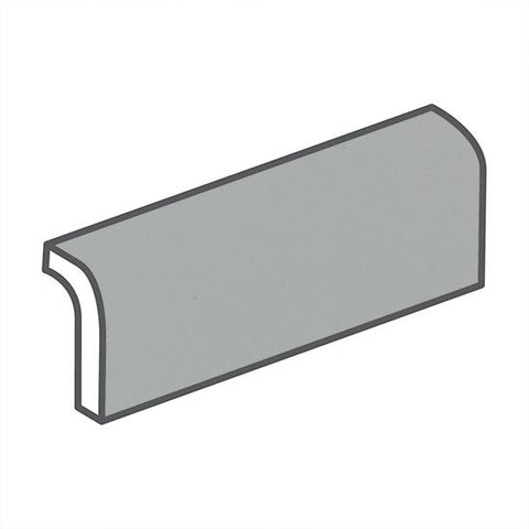 "American Olean Bright 2 x 6 Light Smoke Wall Surface Bullnose - 6"" Side"