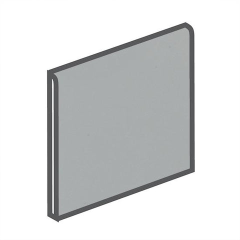 American Olean Bright 6 x 6 Light Smoke Surface Bullnose