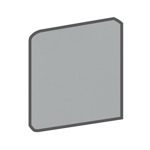 American Olean Bright 4-1/4 x 4-1/4 Light Smoke Surface Bullnose Outcorner