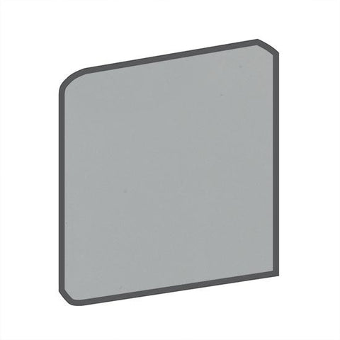 American Olean Bright 6 x 6 Light Smoke Surface Bullnose Corner