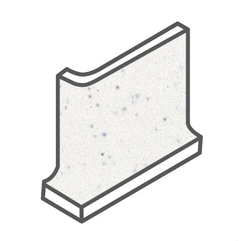 American Olean Bright 4-1/4 x 4-1/4 Salt & Pepper Cove Base Corner - American Fast Floors
