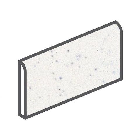 "American Olean Bright 2 x 6 Salt & Pepper Wall Surface Bullnose - 6"" Side - American Fast Floors"