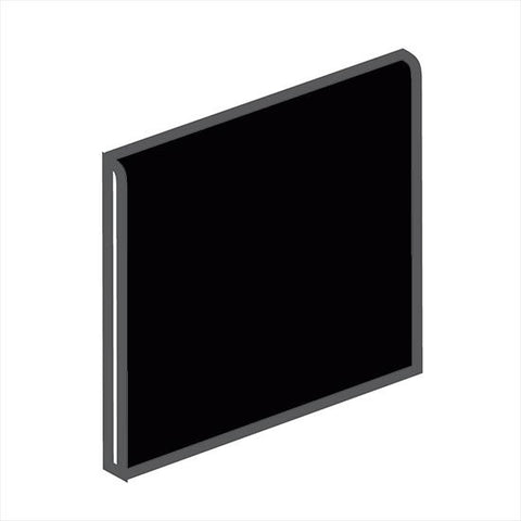American Olean Bright 6 x 6 Gloss Black Surface Bullnose