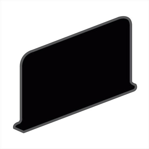 American Olean Bright 4-1/4 x 6 Gloss Black Sanitary Cove Base Corner