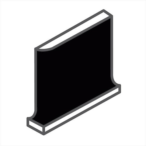 American Olean Bright 6 x 6 Gloss Black Cove Base Corner (Right/Left) - American Fast Floors
