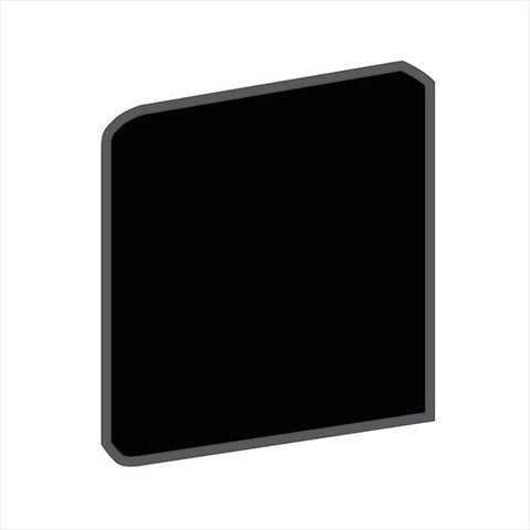 American Olean Bright 4-1/4 x 4-1/4 Gloss Black Surface Bullnose Outcorner - American Fast Floors