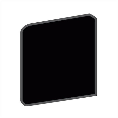 American Olean Bright 6 x 6 Gloss Black Surface Bullnose Corner (Right/Left) - American Fast Floors