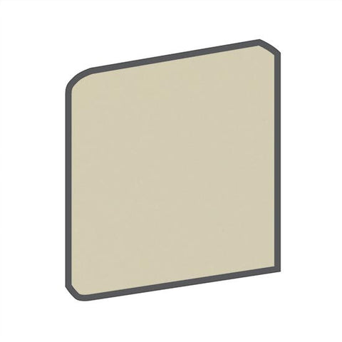 American Olean Bright 4-1/4 x 4-1/4 Sand Dollar Surface Bullnose Outcorner - American Fast Floors