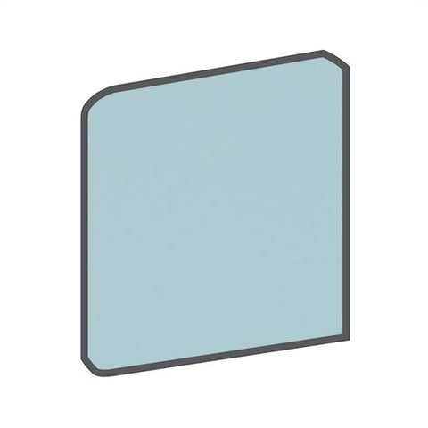American Olean Matte 4-1/4 x 4-1/4 Glacier Surface Bullnose Outcorner - American Fast Floors