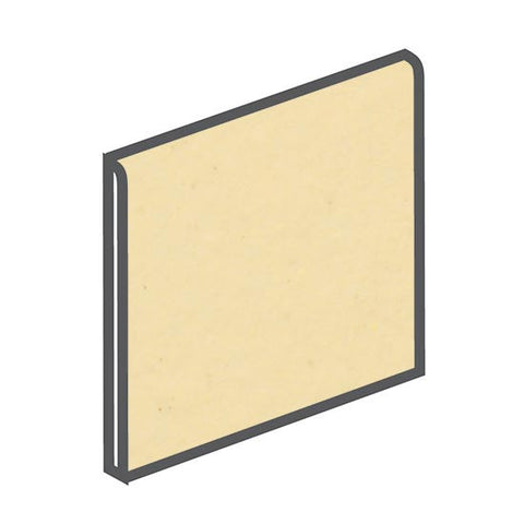 American Olean Bright 6 x 6 Marshmallow Surface Bullnose - American Fast Floors