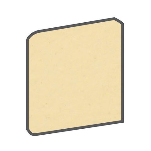 American Olean Bright 6 x 6 Marshmallow Surface Bullnose Corner - American Fast Floors