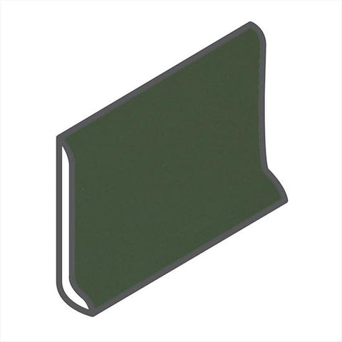 "American Olean Matte 4-1/4 x 6 Dill Pickle Sanitary Cove Base - 6"" Side - American Fast Floors"