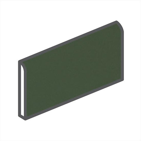 "American Olean Matte 2 x 6 Dill Pickle Wall Surface Bullnose - 6"" Side"