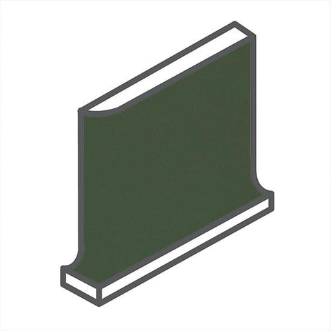 American Olean Matte 4-1/4 x 4-1/4 Dill Pickle Cove Base Corner - American Fast Floors