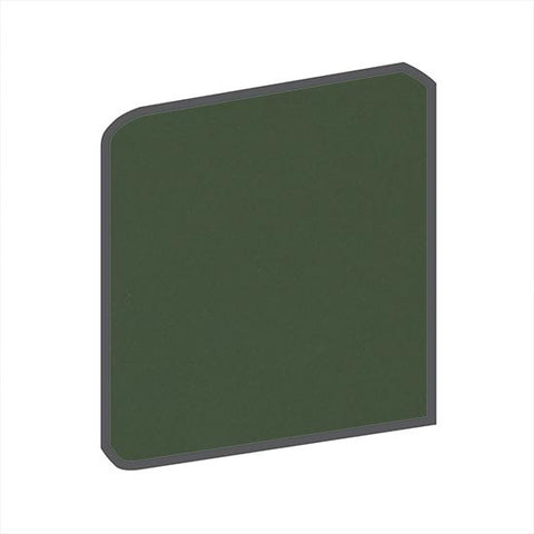 American Olean Matte 4-1/4 x 4-1/4 Dill Pickle Surface Bullnose Outcorner - American Fast Floors