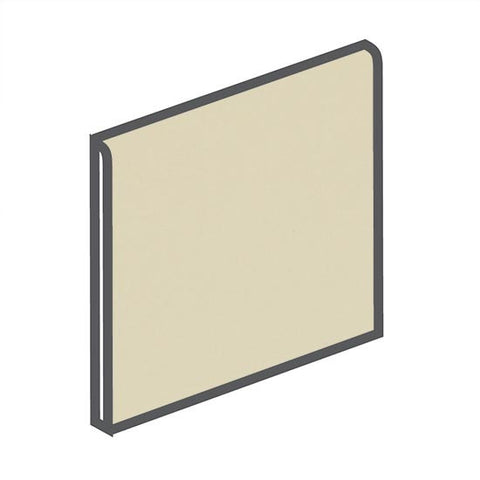 American Olean Matte 4-1/4 x 4-1/4 Sand Dollar Surface Bullnose