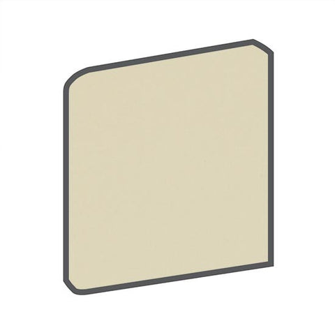 American Olean Matte 4-1/4 x 4-1/4 Sand Dollar Surface Bullnose Outcorner