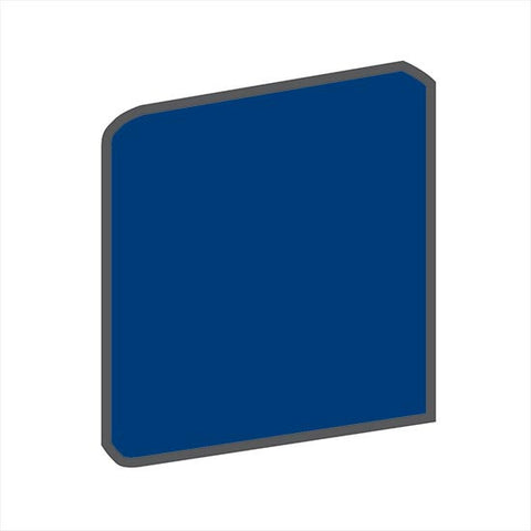 American Olean Bright 4-1/4 x 4-1/4 Sapphire Sky Surface Bullnose Outcorner