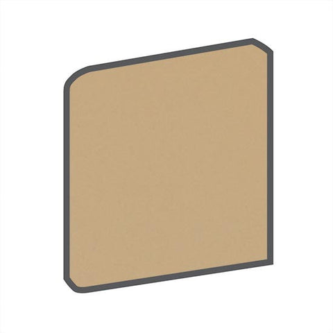 American Olean Bright 4-1/4 x 4-1/4 Cappuccino Surface Bullnose Outcorner - American Fast Floors