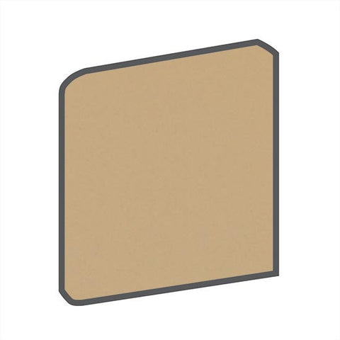 American Olean Bright 6 x 6 Cappuccino Surface Bullnose Corner (Right/Left) - American Fast Floors