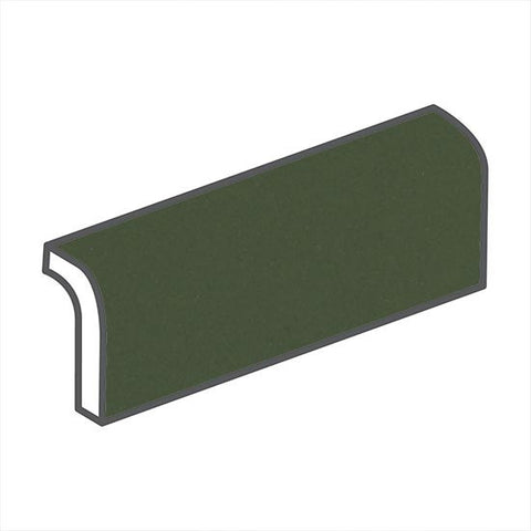 "American Olean Bright 2 x 6 Dill Pickle Radius Bullnose - 6"" Side"