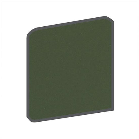 American Olean Bright 4-1/4 x 4-1/4 Dill Pickle Surface Bullnose Outcorner