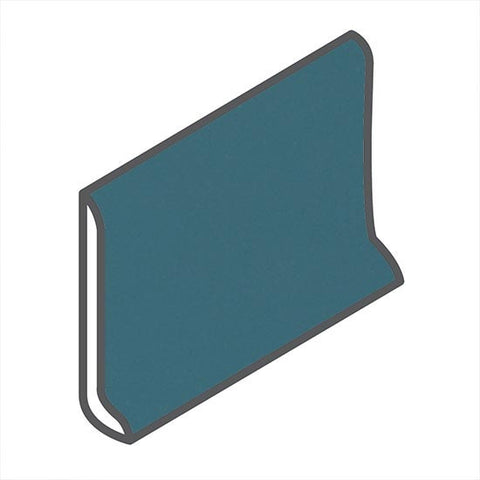 "American Olean Matte 4-1/4 x 6 Bimini Blue Sanitary Cove Base - 6"" Side - American Fast Floors"