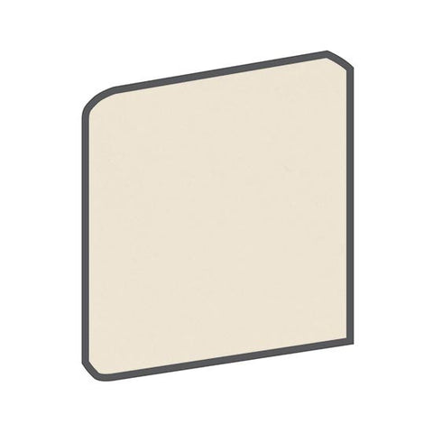American Olean Matte 4-1/4 x 4-1/4 Almond Surface Bullnose Outcorner - American Fast Floors