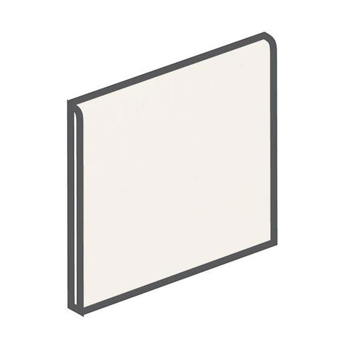 American Olean Bright 6 x 6 White Surface Bullnose