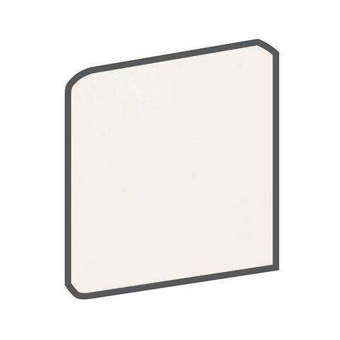 American Olean Bright 4-1/4 x 4-1/4 White Surface Bullnose Outcorner