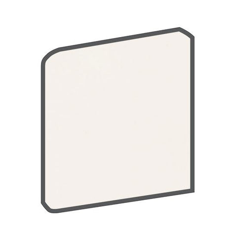 American Olean Bright 6 x 6 White Surface Bullnose Corner - American Fast Floors