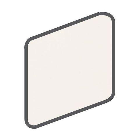 American Olean Bright 2 x 2 White Wall Surface Bullnose Outcorner