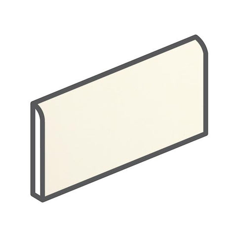 "American Olean Bright 2 x 6 Biscuit Wall Surface Bullnose - 6"" Side"