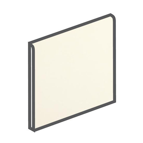 American Olean Bright 4-1/4 x 4-1/4 Biscuit Surface Bullnose