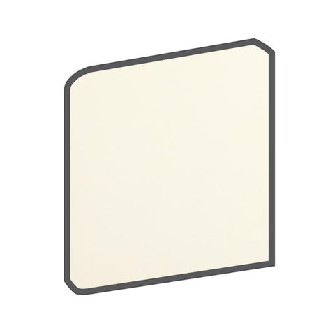 American Olean Bright 4-1/4 x 4-1/4 Biscuit Surface Bullnose Outcorner - American Fast Floors