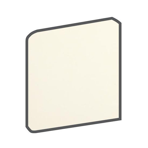 American Olean Bright 6 x 6 Biscuit Surface Bullnose Corner