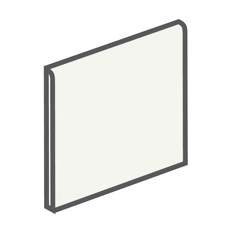 American Olean Matte 4-1/4 x 4-1/4 Snow Mist Surface Bullnose