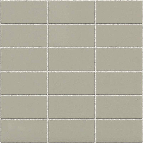 Daltile Modern Dimensions Gloss Architectural Gray 2 x 4 Straight-Joint Mosaic - American Fast Floors