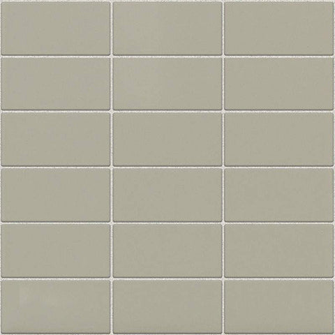 Daltile Modern Dimensions Gloss Architectural Gray 2 x 4 Straight-Joint Mosaic