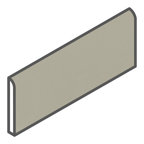 "Daltile Modern Dimensions 2-1/8 x 8-1/2 Gloss Architectural Gray Bullnose - 8-1/2"" Side"