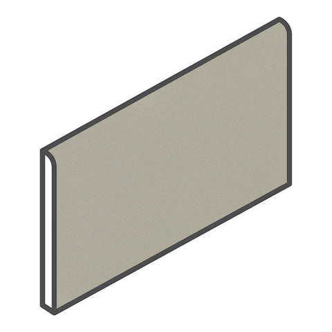 "Daltile Modern Dimensions 4-1/4 x 8-1/2 Gloss Architectural Gray Bullnose (8-1/2"" Side)"