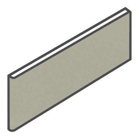 "Daltile Modern Dimensions 4-1/4 x 12-3/4 Gloss Architectural Gray Surface Bullnose - 4-1/4"" Side"