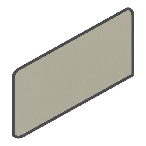 Daltile Modern Dimensions 4-1/4 x 8-1/2 Gloss Architectural Gray Wall Bullnose Corner Right
