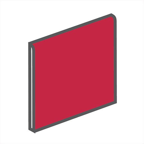American Olean Bright 4-1/4 x 4-1/4 Ruby Red Surface Bullnose