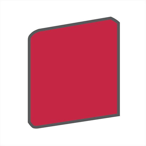 American Olean Bright 4-1/4 x 4-1/4 Ruby Red Surface Bullnose Outcorner